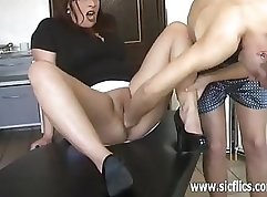 Blonde slut gets fucked in extreme harsh