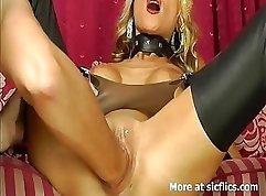 Blonde hottie getting a fist