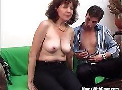 Jane young brunette hottie gets her wet pussy pounded hard by a massive cock