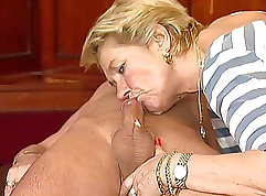 Beautiful coed deep blowjob from public lot. Some private