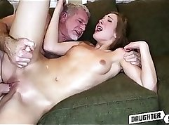companions daughter phallus cheerleader and daddy joins Young Lesbians