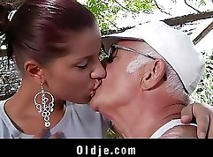 Busty Outdoor Girlfriend Pounded by Huge Cock