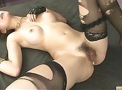 Big tits whore throbbing and impaling toy in her pussy