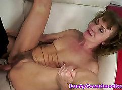 Busty granny with wonderful body babe anal sex
