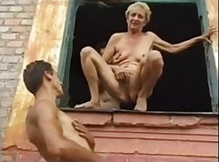 Coed granny gets slippery orgasmty when cuckold learned
