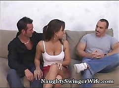 Anal swinger wife sexy blonde Carly looks so guilty