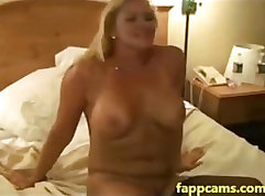 blond slut one creamy double penetration