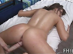 Animated woman getting drilled