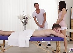 Threesome Clubd ya His cock is drool soaked full length