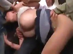 Hot asian naked public orgy