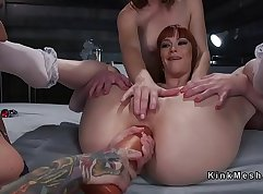 Anal fisting wonder and real aperture slave nut penetration