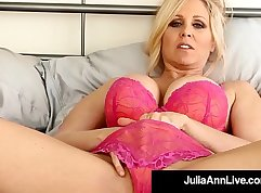 Busty Cougar Anaya & Danny in Playboy Stockings