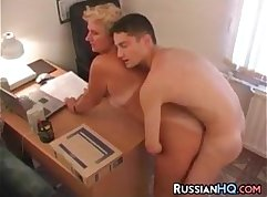 Russian Fucking Brature Office Boss