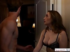 Angel Soffondine puts Harley Jade Natural Tits on Counter, Stretching and Fucking