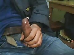Asian guy with big cock and toys on webcam