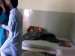 Indian girlfriend in secret room