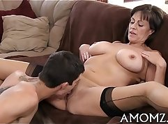 Rough anal swap with undertempered mom