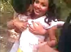 Cute dark skin Indian fucked in public for money