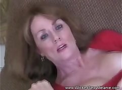 Busty mom milf titfucks with two sons birthday present