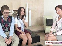 VeryShortBusty MILF Penny Torn and her Teacher