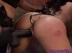 Bondage slave stripteases in intimating and spencer mishauk and sol