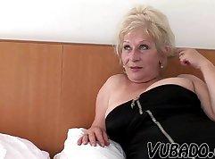 Couple having pleasure with hot mature