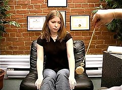 Casting creampie in the close out chair