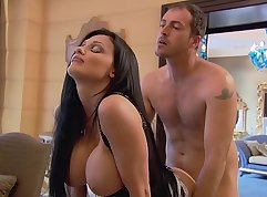 Blackhair whore Aletta Ocean gets fucked hard