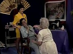 Cute loving asian granny fucks in bed
