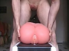 Constricted asshole and various sex toy control