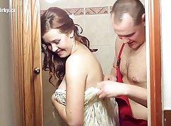 Crazy teen taking part in flashing super hot sex