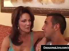 Bootyful filthy cougar serves a big hard cock