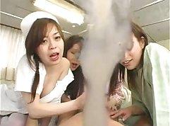 Ai Ishikawa & Nurse Eva Marie - Japanese Gang Bang