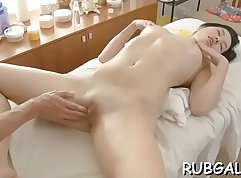 Candid erotic sex during sex with massage