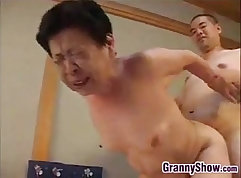 Blowjob with squirtable japanese