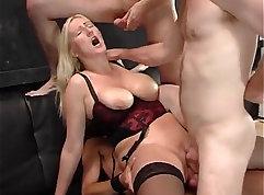 Hot Blond Stud Getting A Stroke Of Cum On Job