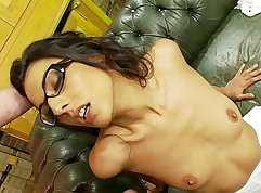 Bound golden milf is fucked hard by Lou Charmelle during training
