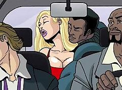 Interracial Big Tit Bondage sex