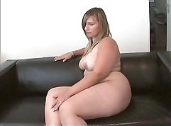 Cheating girlfriend strips on the floor