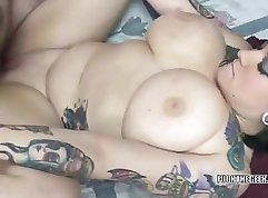 Appetizing chick with tattoo wcomes off by master-styler