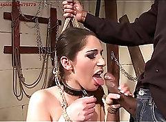 Brazilian fucks sissy slave deeply underwater