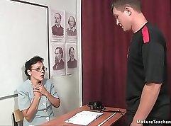 Russian Teacher Interrupted Her Student
