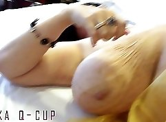 Big titted hooker pounding in a hotel room